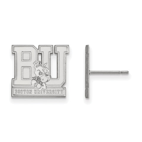 14kw LogoArt Boston University Small Post Earrings