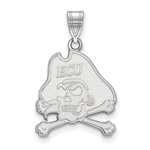 Sterling Silver LogoArt East Carolina University Large Pendant