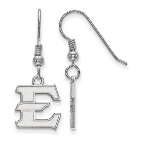 Sterling Silver LogoArt East Tennessee State Small Dangle Earrings