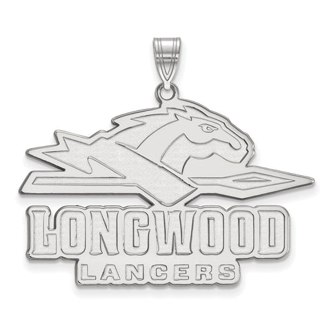 Sterling Silver LogoArt Longwood University XL Pendant