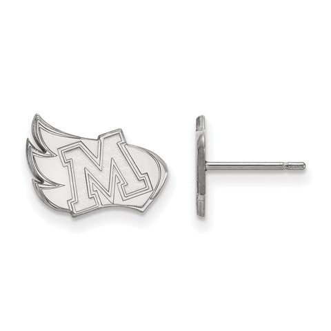 Sterling Silver LogoArt Meredith College Small Post Earrings