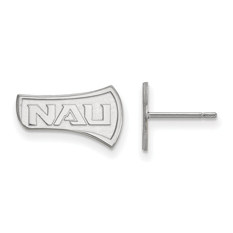 Sterling Silver LogoArt Northern Arizona University Small Post Earrings