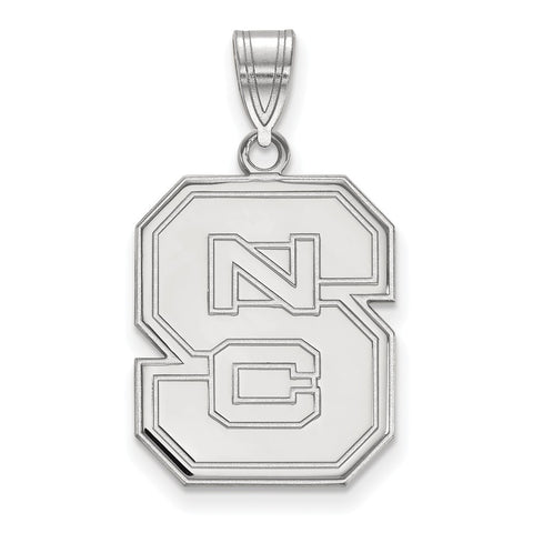 14kw LogoArt North Carolina State University Large Pendant