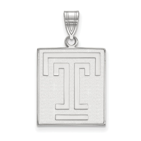 Sterling Silver LogoArt Temple University Large Pendant