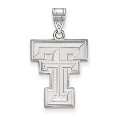 Sterling Silver LogoArt Texas Tech University Large Pendant