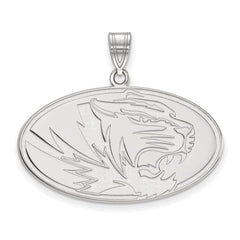Sterling Silver LogoArt University of Missouri Large Pendant