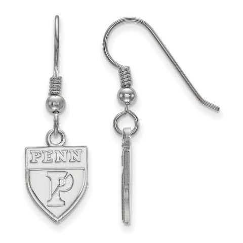 Sterling Silver LogoArt University of Pennsylvania Small Dangle Earrings