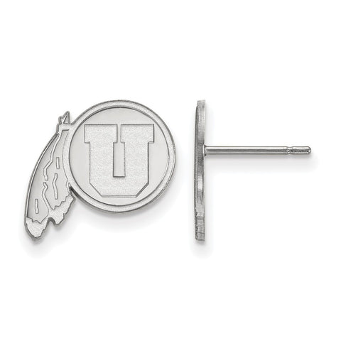 Sterling Silver LogoArt University of Utah Small Post Earrings