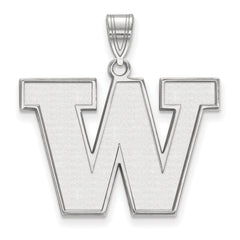 Sterling Silver LogoArt University of Washington Large Pendant