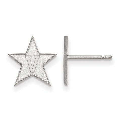 Sterling Silver LogoArt Vanderbilt University Small Post Earrings