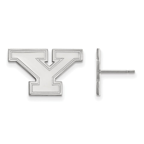 10k White Gold Logoart Youngstown State University Penguins Small Post Earrings