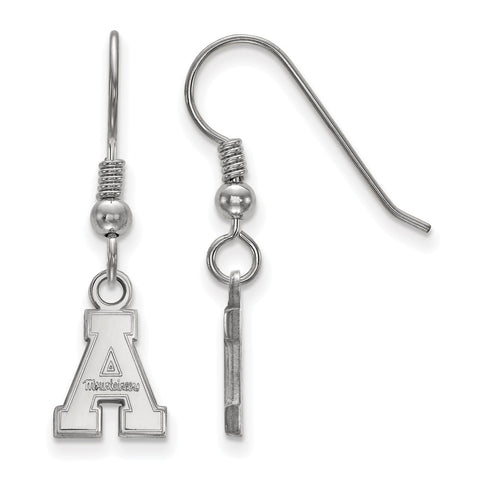 Sterling Silver LogoArt Appalachian State University XS Dangle Earrings