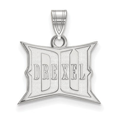Sterling Silver LogoArt Drexel University Small Pendant