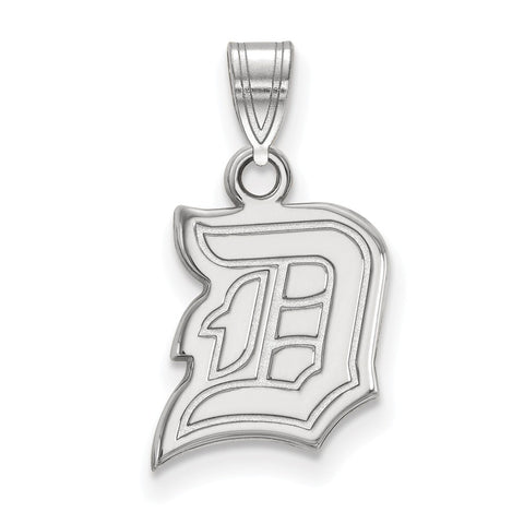 14k White Gold Logoart Duquesne University Dukes Small Pendant