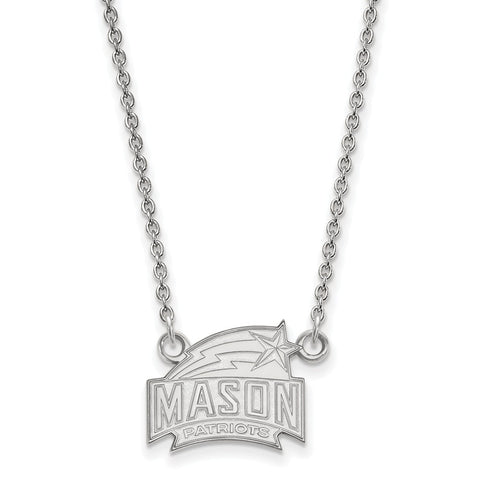 14kw LogoArt George Mason University Small Pendant w/Necklace