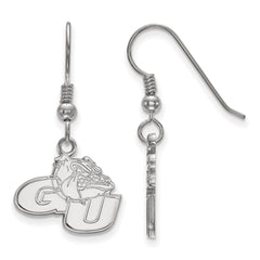 Sterling Silver LogoArt Gonzaga University Small Dangle Earrings