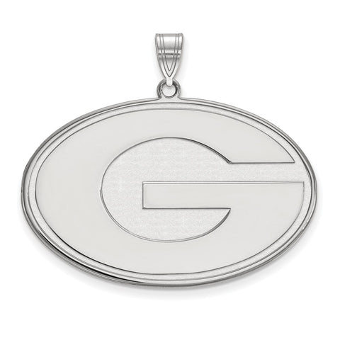 Sterling Silver LogoArt University of Georgia XL Pendant