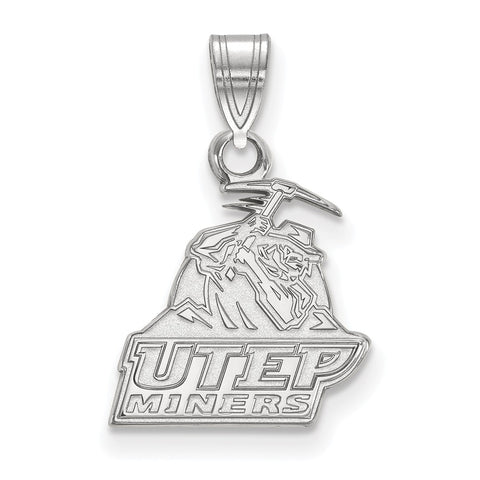 Sterling Silver LogoArt The University of Texas at El Paso Small Pendant