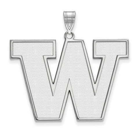 Sterling Silver LogoArt University of Washington XL Pendant