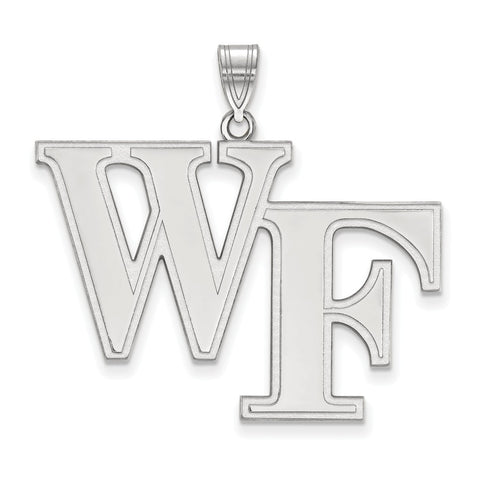Sterling Silver LogoArt Wake Forest University XL Pendant
