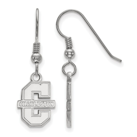Sterling Silver LogoArt College of Charleston Small Dangle Earrings