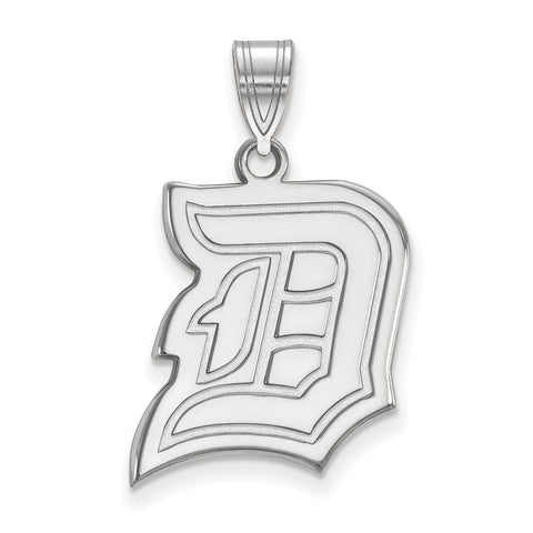 14k White Gold Logoart Duquesne University Dukes Large Pendant