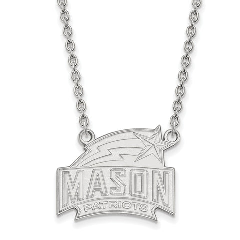 14kw LogoArt George Mason University Large Pendant w/Necklace