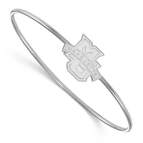 Sterling Silver LogoArt Marquette University Bangle Slip on
