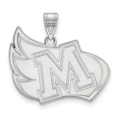 Sterling Silver LogoArt Meredith College XL Pendant