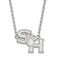 Sterling Silver LogoArt Sam Houston State U Large Pendant w/Necklace