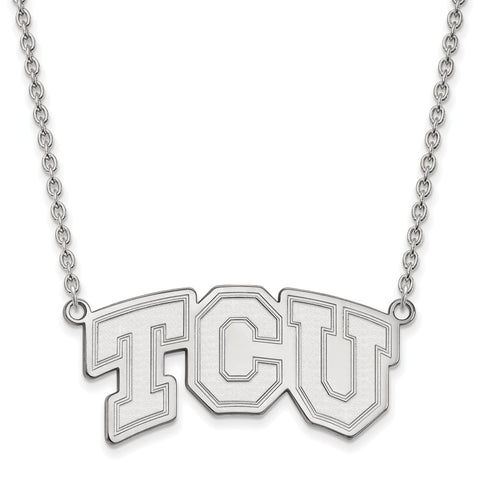 10kw LogoArt Texas Christian University Large Pendant w/Necklace