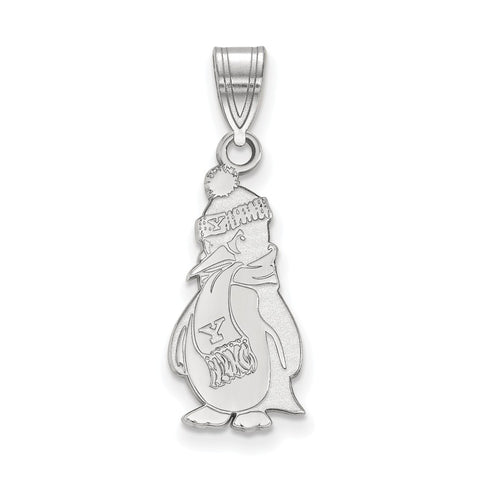 14k White Gold Logoart Youngstown State University Penguins Large Pendant