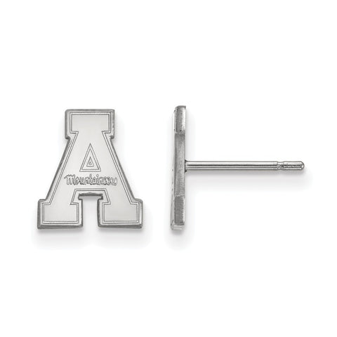 10k White Gold Logoart Appalachian State University Mountaineers XS Post Earrings