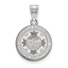Sterling Silver LogoArt Boston University Medium Crest Pendant