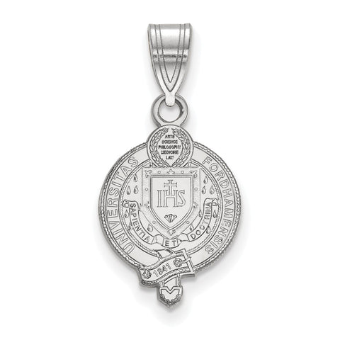 Sterling Silver LogoArt Fordham University Medium Crest Pendant