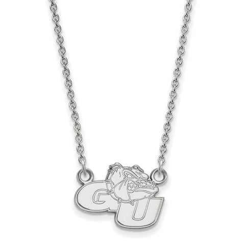 Sterling Silver LogoArt Gonzaga University Small Pendant w/Necklace