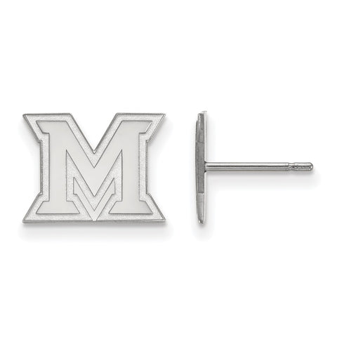 14kw LogoArt Miami University XS Post Earrings