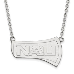 Sterling Silver LogoArt Northern Arizona University Large Pendant w/Necklac