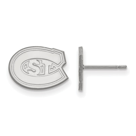 Sterling Silver LogoArt St. Cloud State XS Post Earringss