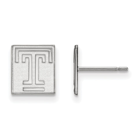 14kw LogoArt Temple University XS Post Earrings