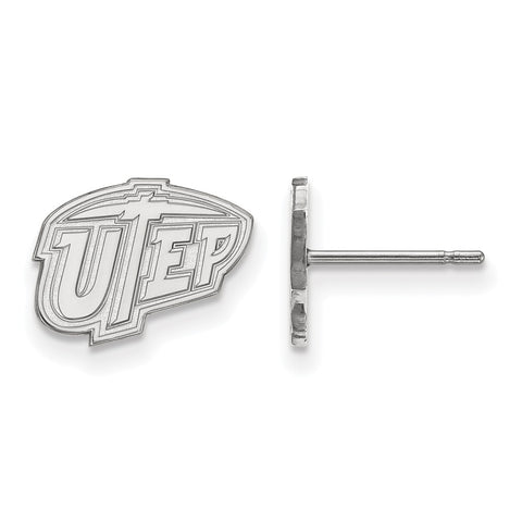 Sterling Silver LogoArt The University of Texas at El Paso XS Post Earrings