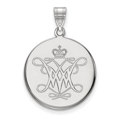 14kw LogoArt William And Mary Large Disc Pendant