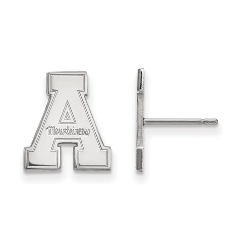 10k White Gold Logoart Appalachian State University Mountaineers Small Post Earrings