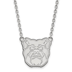 Sterling Silver LogoArt Butler University Large Pendant w/Necklace