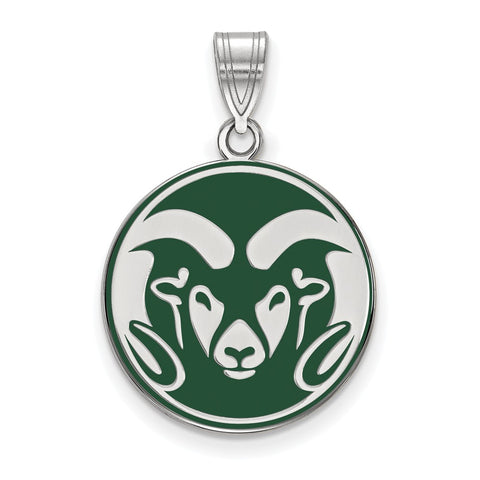 Sterling Silver LogoArt Colorado State University Enameled Large Pendant