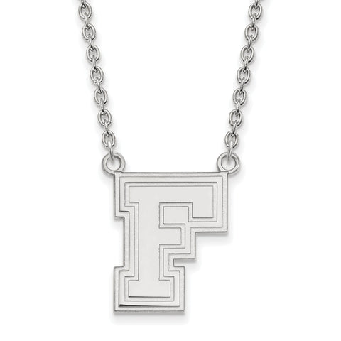 14kw LogoArt Fordham University Large Pendant w/Necklace