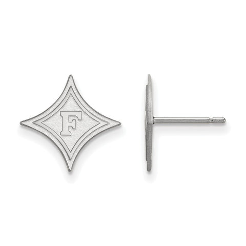 14kw LogoArt Furman University Small Post Earrings