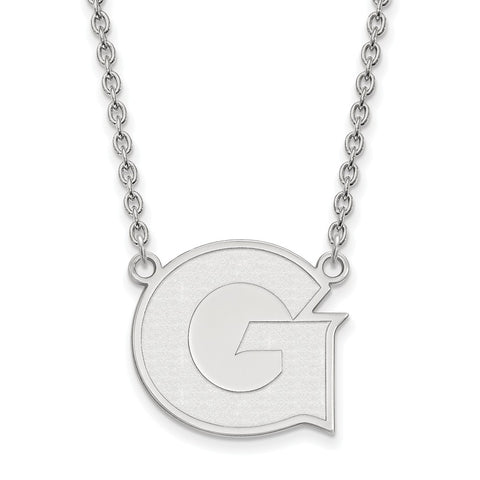 Sterling Silver LogoArt Georgetown University Large Pendant w/Necklace