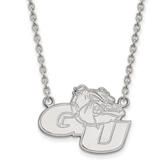 Sterling Silver LogoArt Gonzaga University Large Pendant w/Necklace