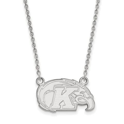 Sterling Silver LogoArt Kent State University Small Pendant w/Necklace